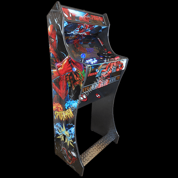 Arcade-Cabinet-Machine-New-Lightgun-Spinner-Bartop-Pedestal-All-in-One-Steering Wheel-Hyperspin-Maximus-Hot-Toys-MAME-Spider Man